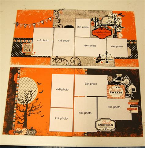 scrapbook layout ideas for halloween scrapbook generation as requested