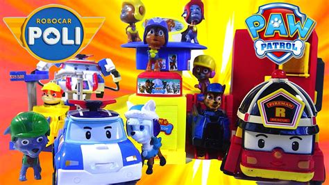 Paw Patrol Parking paw patrol parking lot headquarters robocar poli