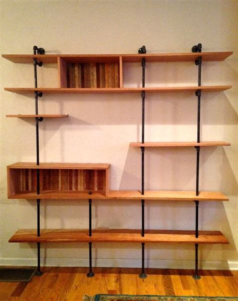 mid century modern shelving unit reclaimed wood by