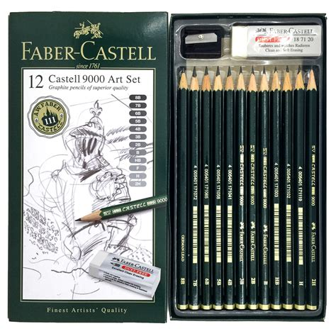 Pensil Faber Castell 9000 5b faber castell pencil set drawing 12 s castell 9000 with 8b 7b 6b 5b 4b 3b 2b b hb f