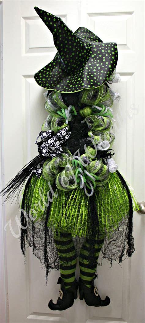 halloween wreath witch halloween wreath by worldofwreaths on etsy 199 95