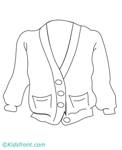 Ugly Sweater Cardigan Coloring Page Coloring Pages Sweater Coloring Page