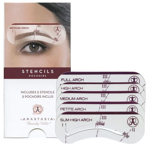 eyebrow templates classic stencils beverly awesome and