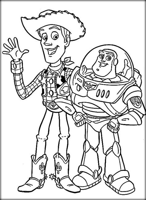 color buzz disney story coloring pages buzz woody color zini