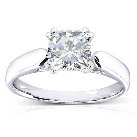 Moissanite Reviews For Engagement Rings by Cushion Cut Moissanite Solitaire Engagement Ring 1 1 10