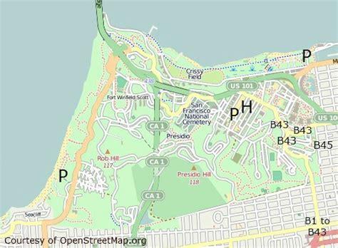san francisco map presidio presidio san francisco sf national cemetery