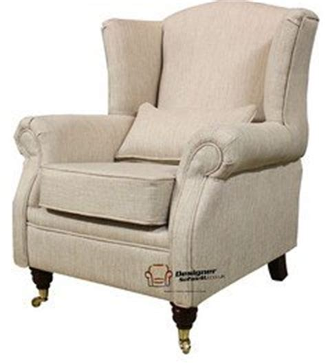 amazon armchairs wing chair fireside high back armchair zoe plain biscuit