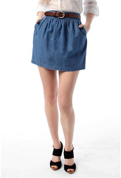 magazine s guide for the denim skirt in
