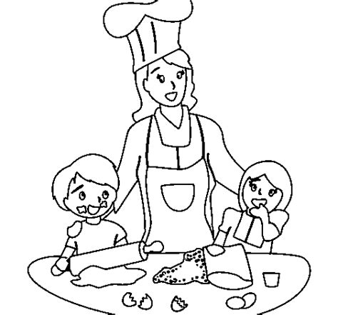 Free Mother Is Cooking Coloring Pages Cooking Coloring Page
