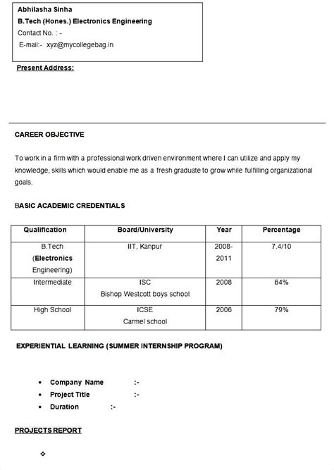 electronics engineer cv free sles exles format