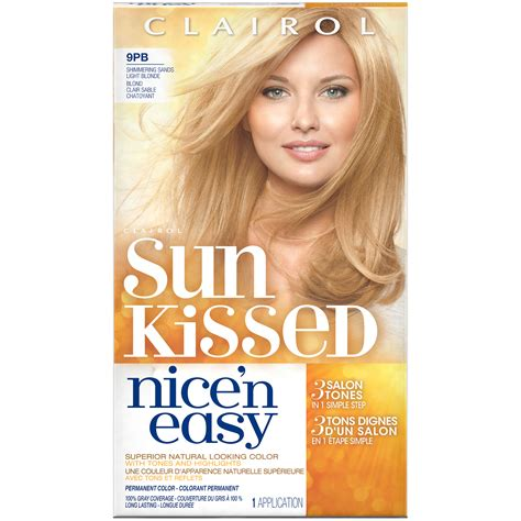 sun kissed hair color clairol n easy sun kissed permanent hair color