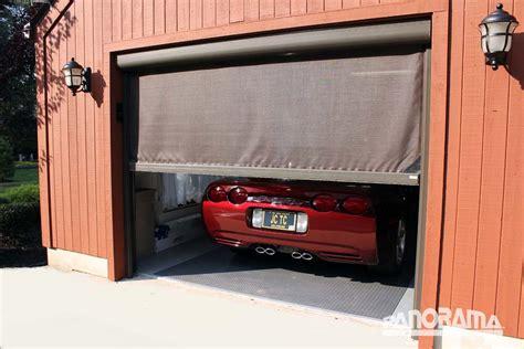 Retractable Screen On Garage Door by Retractable Garage Screen Stoett