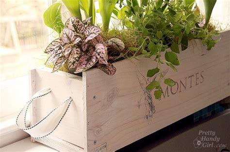 Wine Box Planter Diy by White Washed Wine Crate 8 Beautiful Diy Window Box