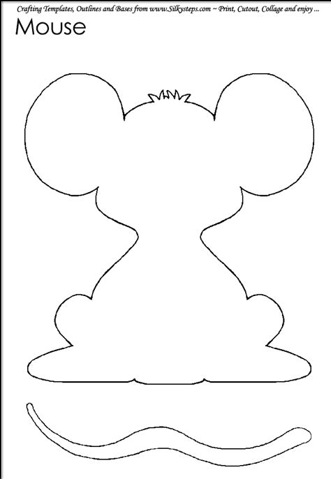 templates for crafts mouse outline template hedgerow craft and collage