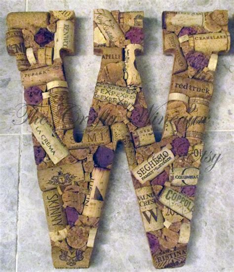 Monogrammed Wreath With Wine Corks 48 Best Corks Images On Wine Corks Creative Ideas And Corks