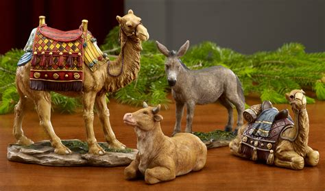 collectibles nativity sets gifts real life deluxe
