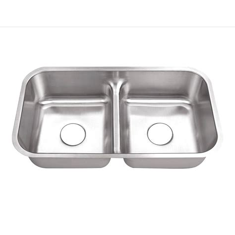 double sinks for kitchen belle foret undermount stainless steel 32 in 0 hole 50 50