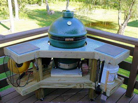 green egg table plans big green egg corner table plans woodworking projects