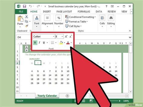 make a calendar in word or excel een kalender maken in excel wikihow