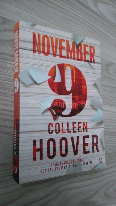 November 9 By Colleen Hoover november 9