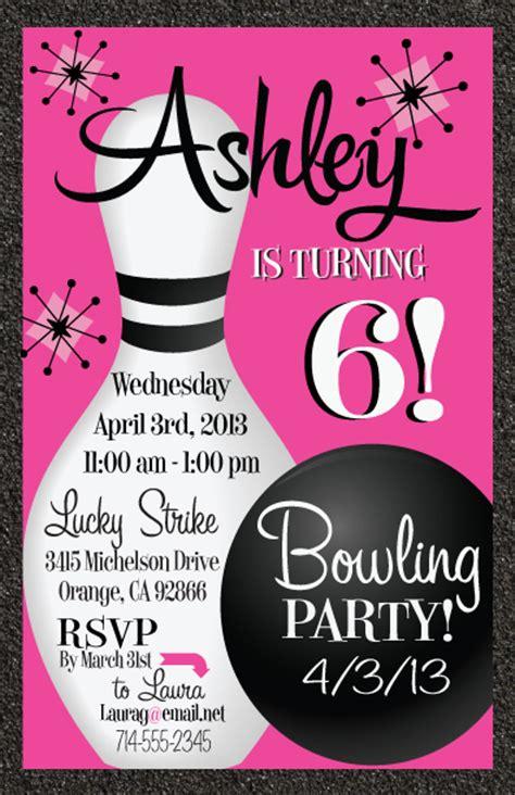 printable birthday party invitations bowling free printable bowling birthday invitations drevio