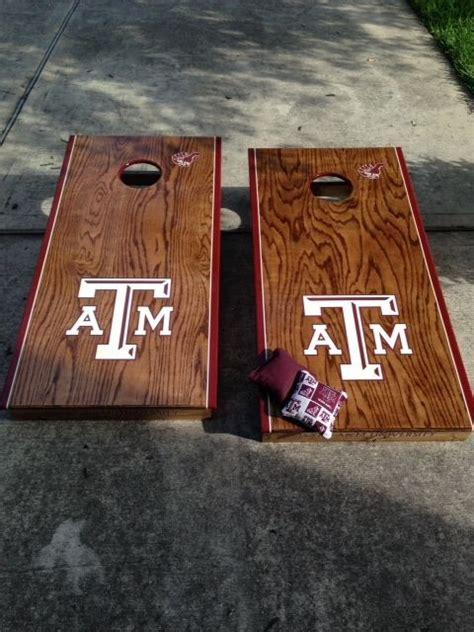 handmade custom corn hole boards texas  aggies