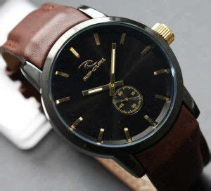 Jam Tangan Quicksilver Date Chrono On Leather Coklat Muda List Biru Brown Leather Brown And Leather On