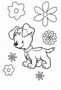 perritos pintar az dibujos colorear