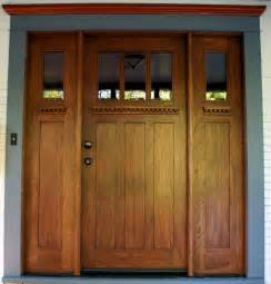 Arts And Crafts Entry Door Arts And Crafts Mahogany Entry Door With Matching