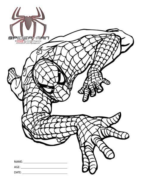spiderman coloring pictures