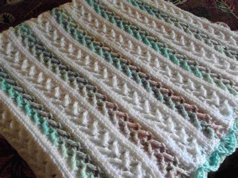 arrow stitch crochet afghan virkning mormorsrutor och mattor