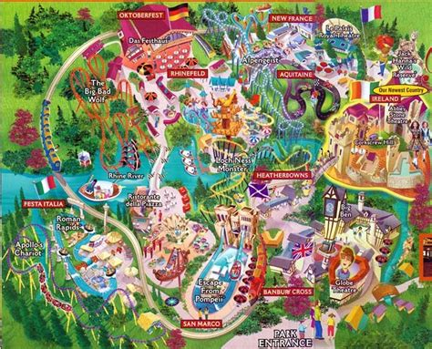 busch gardens williamsburg fall card 166 best images about theme park maps on