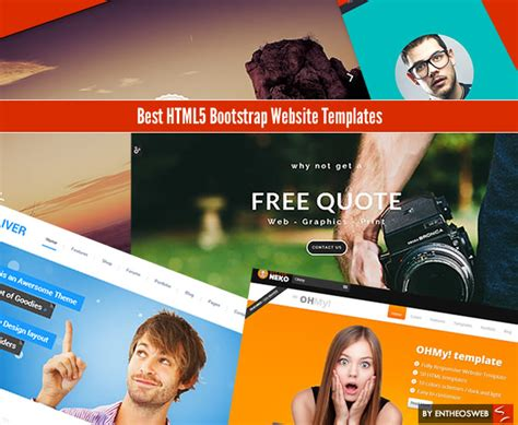templates bootstrap best best html5 bootstrap website templates entheos