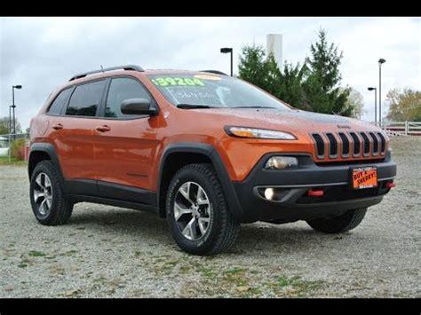jeep cherokee trailhawk orange 2015 jeep cherokee trailhawk v6 for sale dayton troy piqua
