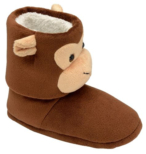 monkey slippers dunlop womens boys novelty slippers boots monkey