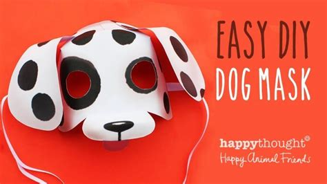 printable dog mask template diy simple animal face mask for kids tutorial k4 craft