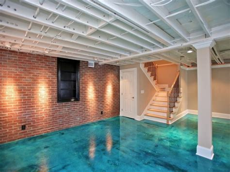 Concrete Floor Ideas Basement Basement Flooring Ideas Freshome