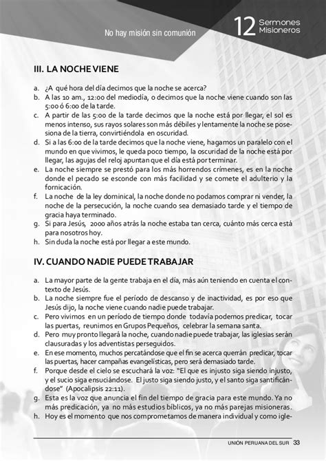 12 sermones misioneros unin peruana del sur 12 sermones misioneros uni 243 n peruana del sur