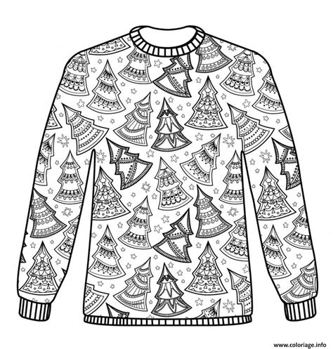 Coloriage Adulte Noel by Coloriage Sweater Adulte Noel Dessin