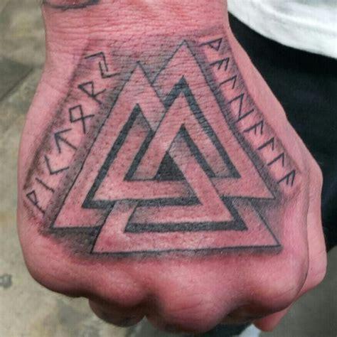 valknut tattoo simple viking tattoo symbal is called valknut ancestry that is