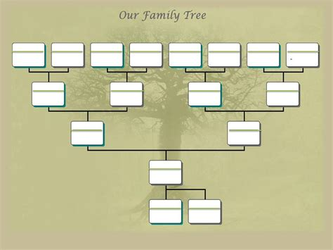 family tree template free printable family tree template