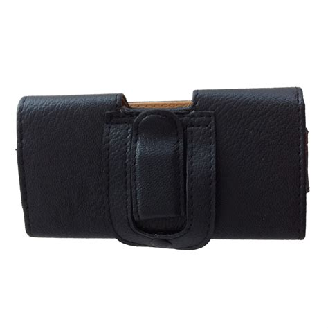 horizontal leather pouch belt clip holster carrying
