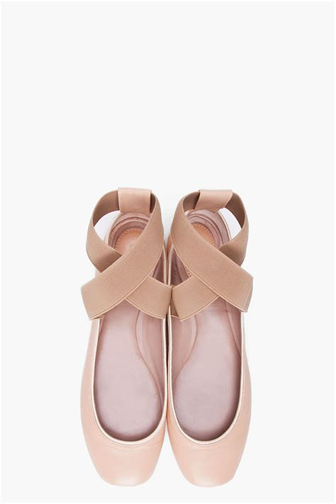 pointe shoe inspired flats new gold en pointe