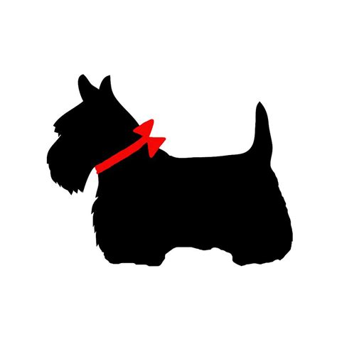 scottie dogs scotty with bow digital by marianna mills
