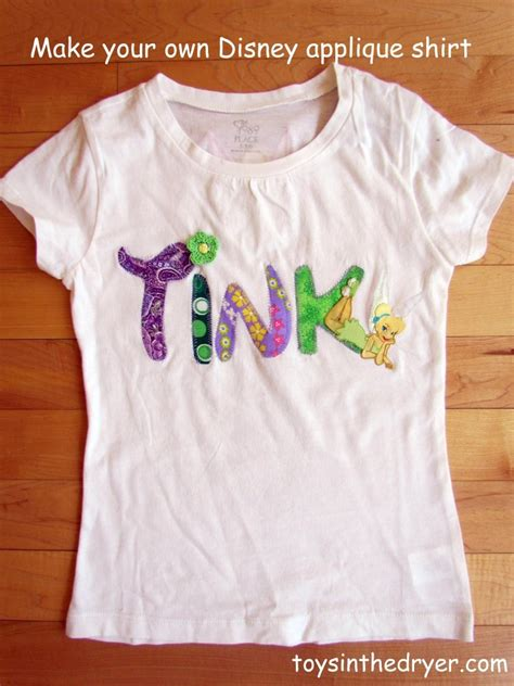 Applique Shirt make your own character applique shirts