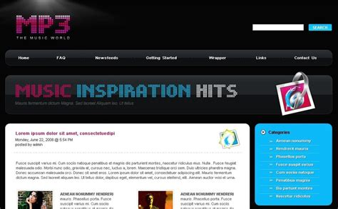themes download mp3 mp3 store wordpress theme 23493
