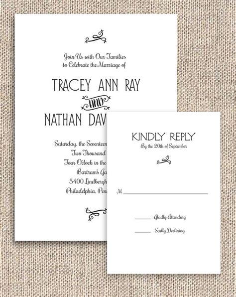 print at home wedding invitations uk printable rustic chic invitation and rsvp set digital