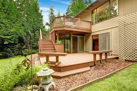 two level backyard landscaping ideas the complete guide about multi level decks with 27 design