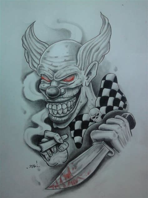 wicked clown tattoo designs 20 awesome joker designs