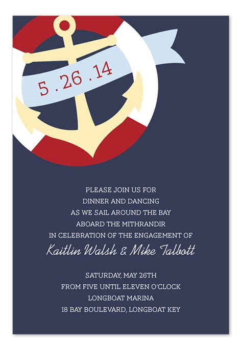nautical banner party invitations by invitation